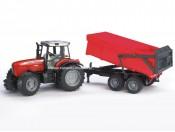 Bruder 02045 Traktor Massey Ferguson 7480 z przyczepą wywrotką