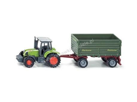 Traktor z przyczepą 2-osiową