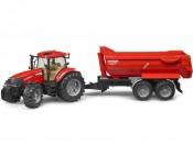 Bruder 03099 Traktor Case IH PUMA CVX 230 z przyczepą Krampe