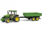 Bruder 02108 Traktor John Deere 5115M z przyczepą wywrotką