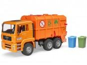 Bruder 02760 MAN TGA Śmieciarka pomarańczowa z tylnym załadunkiem