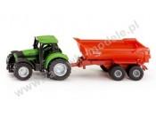 Siku 1632 Traktor z przyczepą wywrotką 1/87