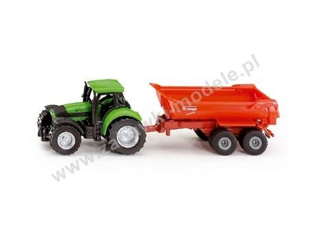 Traktor z przyczepą wywrotką