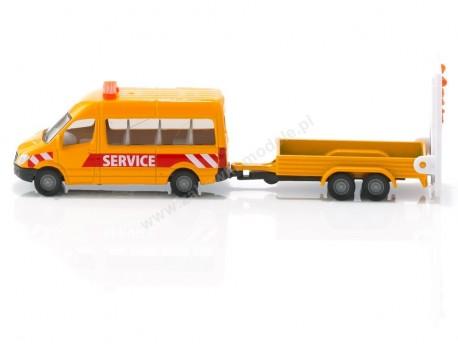 Bus z przyczepą sygnalizacyjną