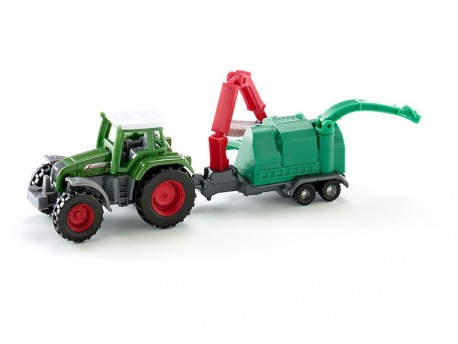 Siku 1675 Traktor Fendt Favorit 926 z rębakiem Jenz 1/87