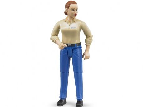 Bruder 60408 Figurka kobiety w niebieskich dżinsach