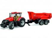 Traktor Case IH Optum 300 CVX z przyczepą Krampe