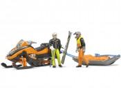 Bruder 63100 Skuter śnieżny z figurkami i toboganem
