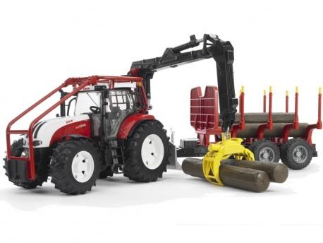 Bruder 03093 Traktor Steyr CVT 6230 leśny + 4 pnie