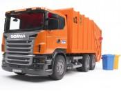 Bruder 03560 Scania R Śmieciarka pomarańczowa