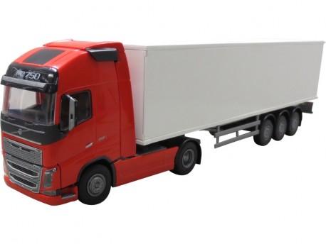 Emek 81135 Volvo FH16 750 Globetrotter XL Box Van czerwony