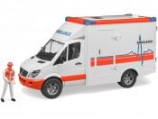 Bruder 02536 Ambulans MB Sprinter z figurką ratownika