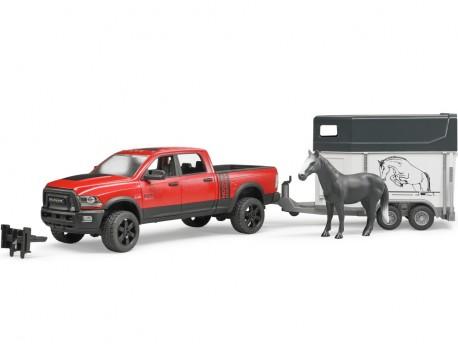 Bruder 02500 Pick-up RAM 2500 Power Wagon z przyczepą dla konia