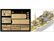 1/350 Bismarck1941 78013 - fototrawione elementy Tamiya 25181