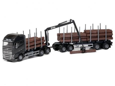 Emek 70303 Volvo FH16 750 XL transporter drewna czarny