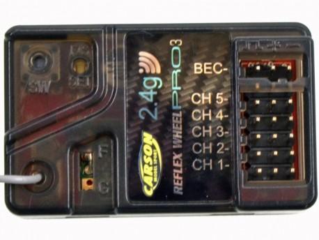 Odbiornik Reflex Pro 3 BEC 5K 2,4GHz wodoodporny Carson 500501536