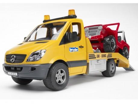 Bruder 02535 MB Sprinter pomoc drogowa + Jeep i sygnalizacja