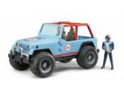 Bruder 02541 Jeep Cross Country Racer niebieski z figurką rajdowca