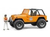 Bruder 02542 Jeep Cross Country Racer pomarańczowy z figurką rajdowca