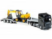 Emek 30803 Scania R Topline transporter z koparką