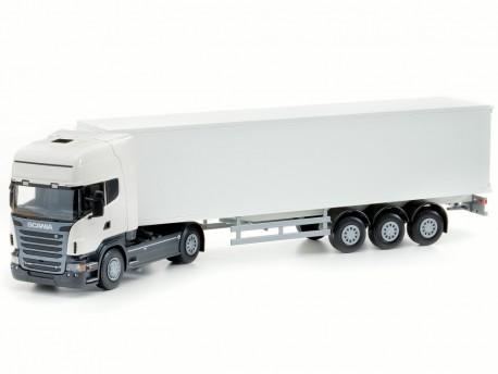 Emek 85002 Scania Topline R620 ciągnik z chłodnią biały