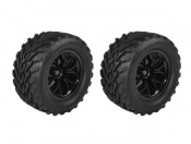 Koła 1:10 Basic Line Truck czarne 2 DF Models 6130