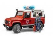 Bruder 02596 Land Rover Defender straż pożarna z figurką strażaka i modułem