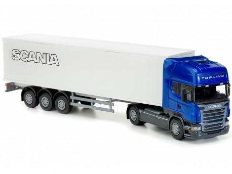 Emek 85004 Scania Topline R620 ciągnik z chłodnią niebieski