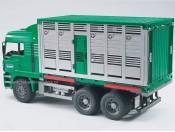 Bruder 02749 MAN kontener z figurką krowy