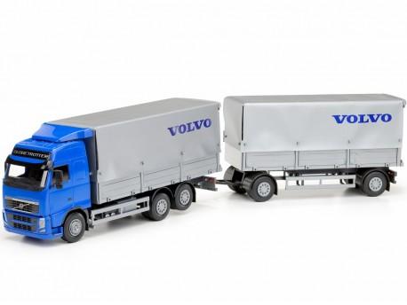 Emek 408542 Volvo FH plandeka z przyczepą 2-osiową - kabina niebieska