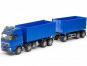 Emek 28854 Volvo FH hakowiec niebieski z przyczepą