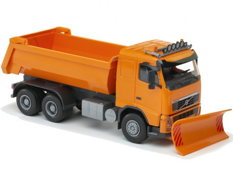 Emek 15158 Volvo FH wywrotka z pługiem pomarańczowa