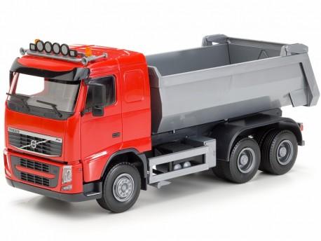 Emek 10155 Volvo FH wywrotka 3-osiowa kabina czerwona