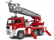 Bruder 02771 MAN straż pożarna z drabiną, pompą i sygnalizacją