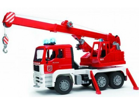 Bruder 02770 MAN straż pożarna z dźwigiem i sygnalizacją