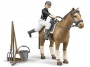 Bruder 62505 Figurki dżokejki i konia + akcesoria
