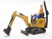 Bruder 62002 Mikrokoparka JCB 8010 CTS z figurką robotnika