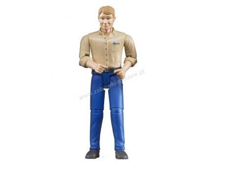 Bruder 60006 Figurka mężczyzny w niebieskich dżinsach