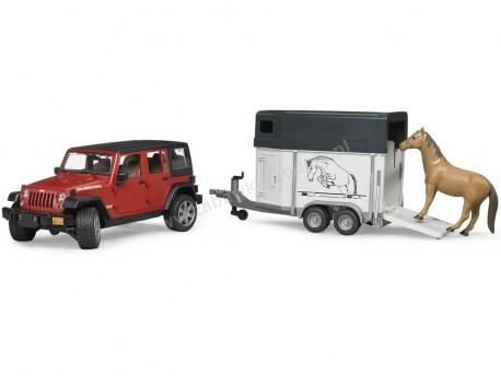 Bruder 02926 Jeep Wrangler Unlimited Rubicon z przyczepą