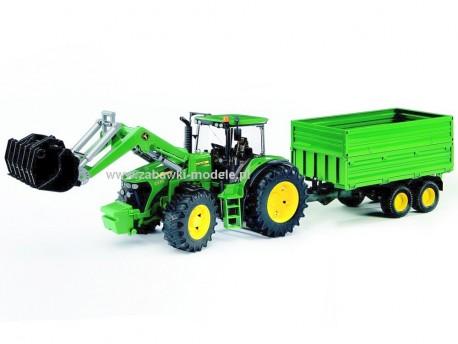 Bruder 03055 Traktor John Deere 7930 z ładowaczem i przyczepą 2-osiową