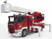 Bruder 03590 Scania R straż pożarna z pompą wodną i modułem sygnalizacyjnym