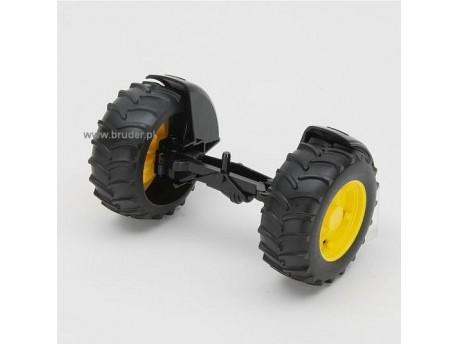 Bruder 42050 Oś przednia z felgami żółtymi