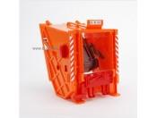 Bruder 42627 MB Actros śmieciarka - Tylna klapa pomarańczowa