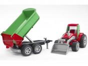 Bruder 20116 Traktor z ładowarką i przyczepą Roadmax