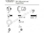 1st GoKart Zestaw elementów dyferencjału Carson 500105251