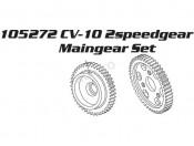 CV-10 Zębatki przekładni 2-biegowej 43T i 48T Carson 500105272