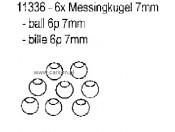 CS Złączki mosiężne 7mm (6x) Carson 500011336