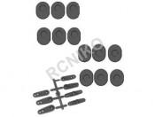 X5ET-B/GT-B Orczyki serwa + tuleje wahaczy Carson 500405237
