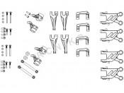 X-18 Wahacze i zwrotnice - nowa wersja zestaw Carson 500405432