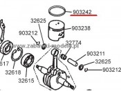 Carson 27ccm - Pierścień tłokowy Carson 500903242